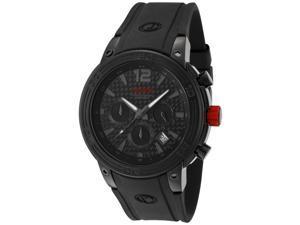 Men's Mission Chronograph Black Carbon Fiber Dial Black Silicone