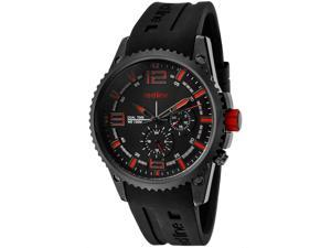 Men's Boost Dual Time Black Dial Black Silicone