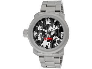 Men's Russian Diver/Sea Hunter Grey Camouflage Dial Gunmetal Stainless Steel