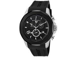 SWISS LEGEND Men's Monte Carlo Chronograph Black Textured Dial Black Rubber