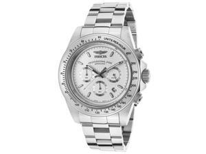 Men's Speedway Chronograph Stainless Steel White Dial