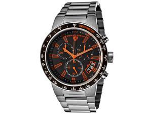 Endurance Chronograph Gunmetal IP Steel Black Dial Orange Accents