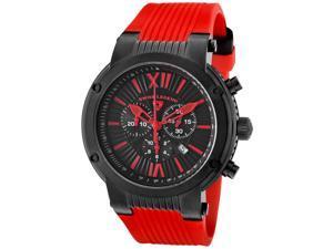 Legato Cirque Chrono Red Silicone Black Textured Dial