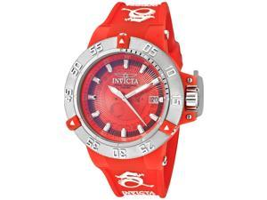 Women's Subaqua Red Silicone and Sunray Dial