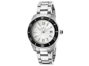 Invicta 21907 Women's Pro Diver Stainless Steel Silver-Tone Dial Black Bezel Watch