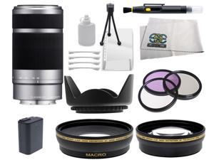 Sony SEL55210 55-210mm f/4.5-6.3 Lens with Essential Lens Bundle