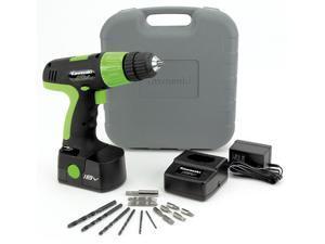 Kawasaki 840107 18 Volt 20 Piece Cordless Drill Set