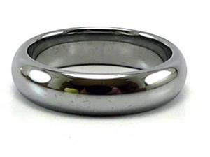 5.5mm Tungsten Carbide Domed Ring, Comfort Fit