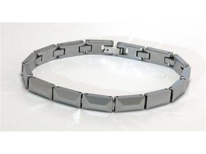 "Men's / Women's 8"" x 1/4"" Narrow tungsten carbide bracelet , thicker than most"
