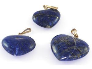 Heart Pendant Carved out of Lapis Lazuli