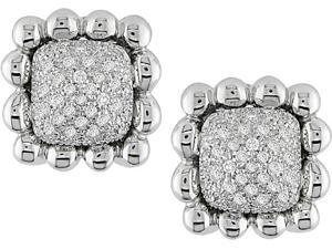 18k White Gold 1ct TDW Diamond Clip Earrings