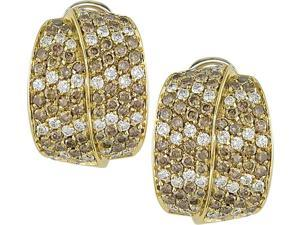 18k Yellow Gold 4 1/4ct TDW Diamond Earrings (F-G, VS)