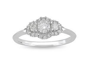 14k White Gold 1/2ct TDW Diamond Engagement Ring (H-I, I1-I2)
