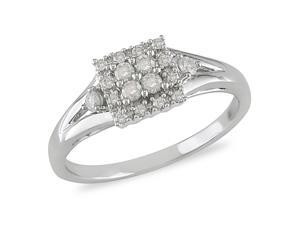 1/4 ct.t.w. Diamond Ring in 10k White Gold, I2-I3