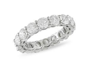 18k Gold 4ct TDW Round Diamond Eternity Band (H-I, I1-I2)