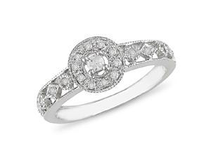 1/2 ct.t.w. Diamond Ring in 10k White Gold, I2-I3, G-H-I