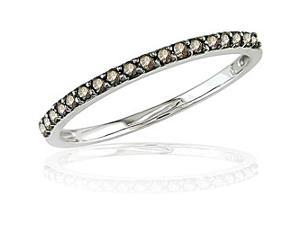 14k Gold 1/4ct TDW Champagne Diamond Band