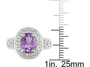 Sterling Silver Amethyst Fashion Ring
