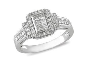14K White Gold 1/3 Carat Diamond Engagement Ring