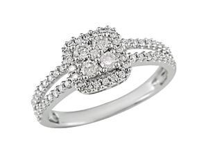 14K White Gold 1/2 Carat Diamond Ring (H-I-J,I1-I2)
