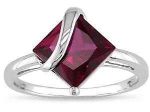 14k Gold 3ct TGW  Created Ruby Ring