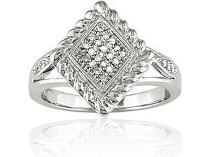Sterling Silver 1/10ct TDW Diamond Ring