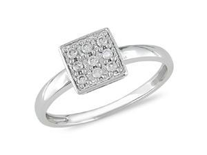 1/5 ct.t.w. Diamond Ring in 10k White Gold, I2-I3