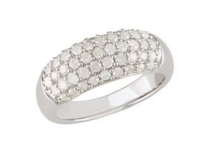 1 ct.t.w. Diamond Ring in Silver, I3-I4, H-I-J