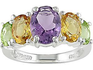 Sterling Silver Multi-Gemstone Ring