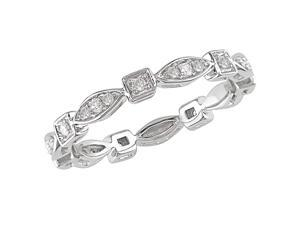 10K White Gold 1/5 Carat Diamond Eternity Ring