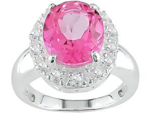 Pink Topaz Sterling Silver Ring