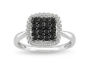 10k Gold 1/2ct TDW Black and White Diamond Ring