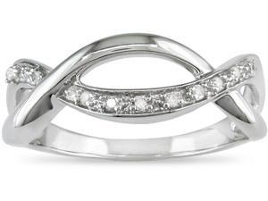 Sterling Silver 1/10ct TDW Diamond Ring (J-K,I3)