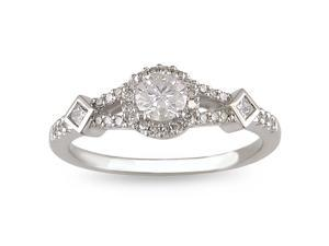 14k White Gold 1/2ct TDW Diamond Engagement Ring (G-H, I1-I2)