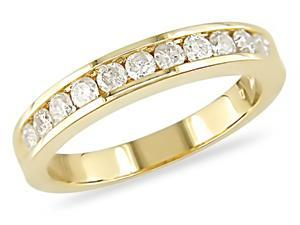 10K Gold 1/2ct TDW Diamond Semi Eternity Band