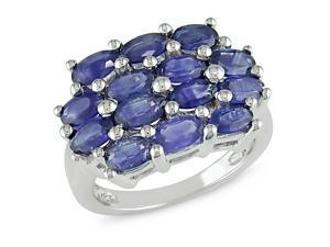 4-3/4 ct.t.w. Sapphire Ring in Silver