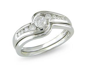 14k White Gold 1/2ct TDW Diamond Fashion Ring (H-I, I2-I3)