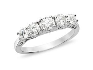 1 ct.t.w. Diamond Anniversary Ring in 10k White Gold