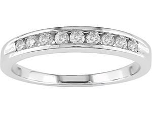 14k Gold 1/4ct TDW Round Diamond Anniversary Ring (H-I-J, I2)