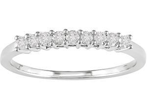1/4ct Diamond Anniversary Band in 14k White Gold, G-H, I1-I2