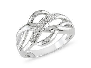 0.05 CT Diamond TW Fashion Ring Silver GHI I3