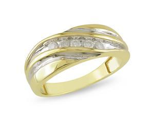 1/4 CT Diamond TW Mens Ring 10k Yellow Gold GHI I2&#59;I3
