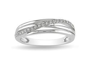 0.06ct Diamond TW Fashion Ring Silver