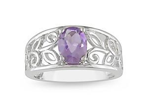 1ct TGW Amethyst Fashion Ring Silver