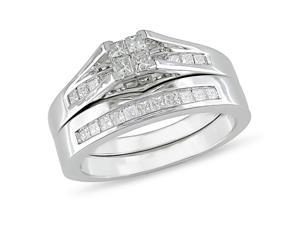 10K White Gold Engagement Diamond Ring