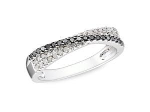 1/4 ct. Black and White Diamond Fashion Ring in Silver, GHI, I3