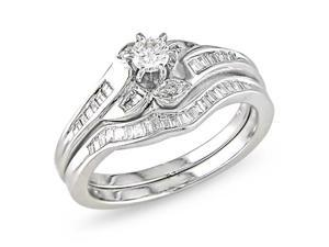 Diamond Topped 14K white gold ring.