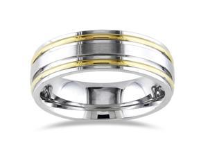 Stainless Steel Band Ring w/ 2 IPG Lines