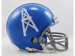 Creative Sports RD-OILERSTB-MR60-63 Houston Oilers 1960-1963 Throwback Riddell Mini Football Helmet