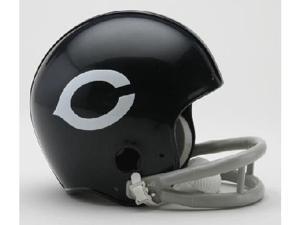 Creative Sports RD-BEARSTB-2Bar57-72 Chicago Bears 1957-1972 2-Bar Throwback Riddell Mini Football Helmet